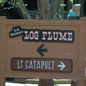 Log flume - Sign - New France - Water Ride - 2014