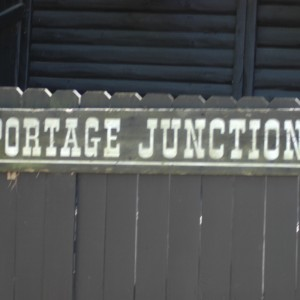 Caribou Train Station Sign - New France - Area Photo - 2014