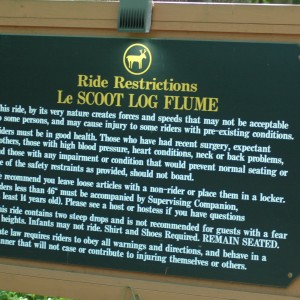 Le Scoot Sign - New France - Water Ride - 2014