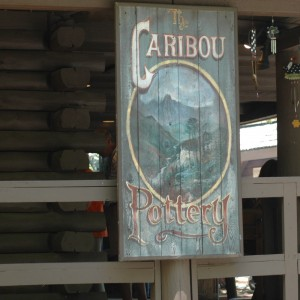 Caribou Pottery Sign - New France - Shops - 2014