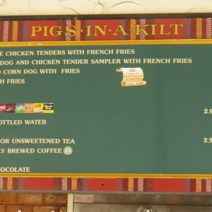 Scotland - Pigs in a Kilt - Food - 2014
