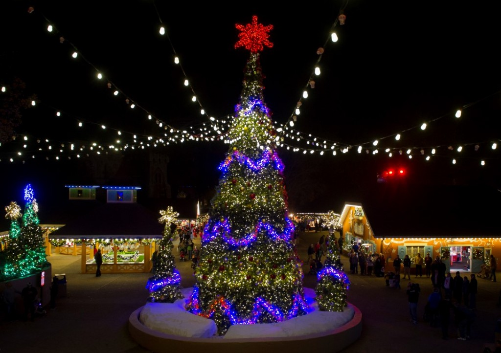 Christmas shines brightest at busch gardens attraction - Busch gardens christmas town rides ...